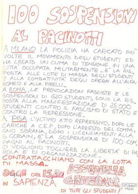 100 sospensioni al Pacinotti