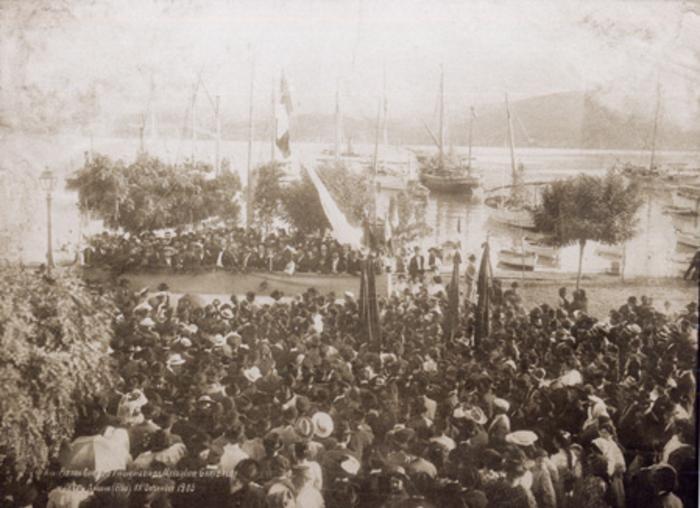Porto Azzurro - Isola d'Elba - (20 settembre 1905). Comizio di Pietro Gori