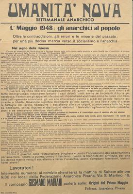 1° maggio 1948 : gli anarchici al popolo
