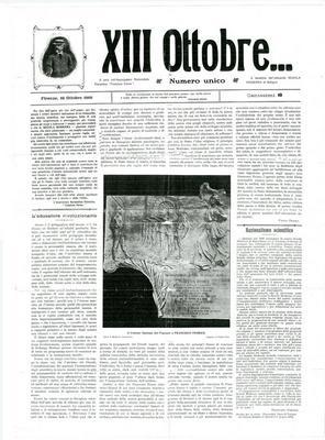 """13. ottobre... : numero unico / a cura dell'Associazione razionalista fiorentina """"Francisco Ferrer"""""""