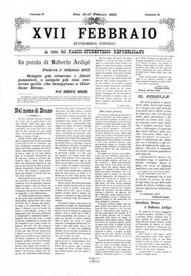 17. febbraio : numero unico / a cura del Fascio studentesco repubblicano
