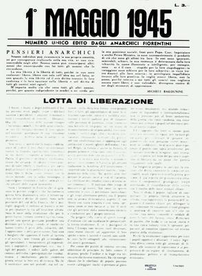 1° maggio 1945 : numero unico edito dagli anarchici fiorentini