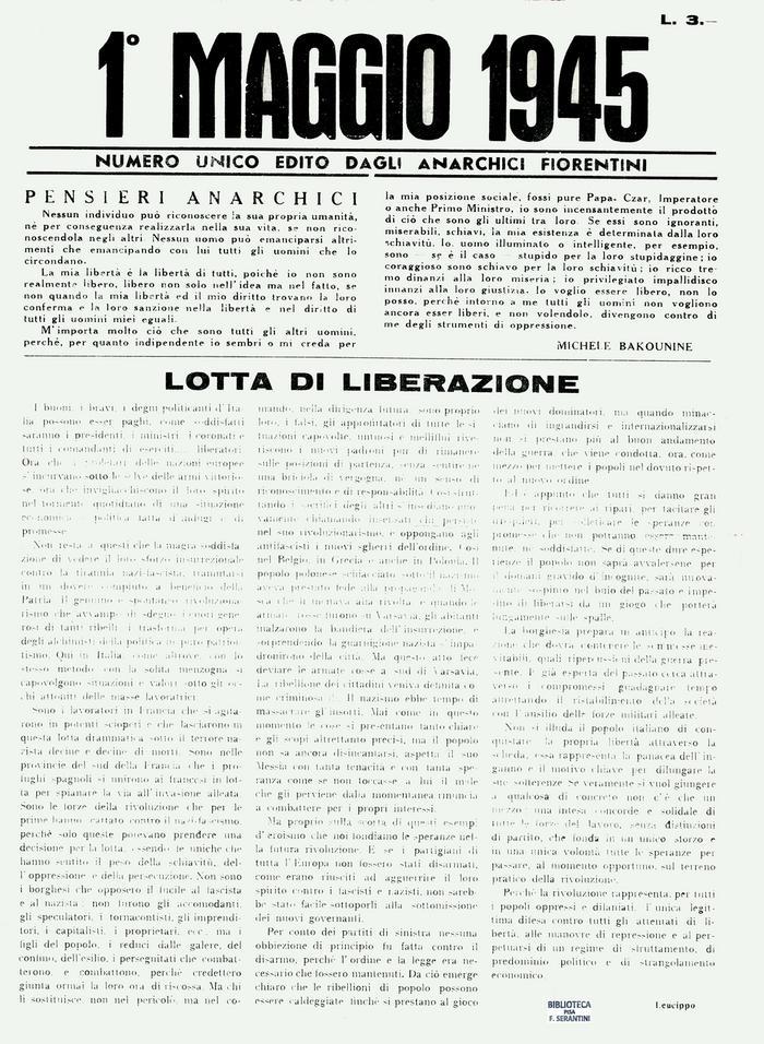 Primo maggio 1945, Firenze, pagina 1