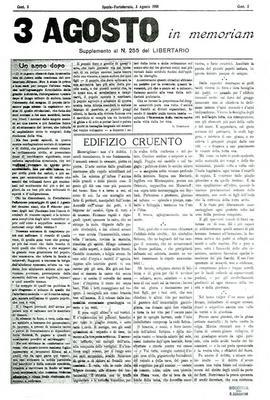 3 agosto in memoriam : supplemento al n. 255 del Libertario