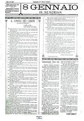 8 gennaio in memoriam : numero unico commemorativo pubblicato a cura degli anarchici di Rosignano Marittimo