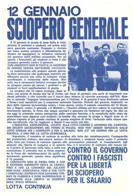 12 gennaio sciopero generale / Lotta continua