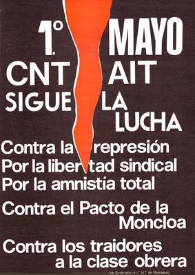 1° mayo, CNT AIT sigue la lucha / edita: Federacion local de sindicatos de Barcelona
