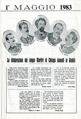 1° maggio 1983 / Gruppo anarchico via Conchetta n. 18, Milano