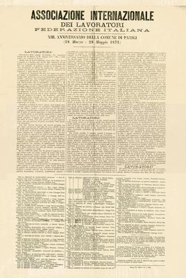 13. Anniversario della Comune di Parigi (18 marzo-28 maggio 1871)